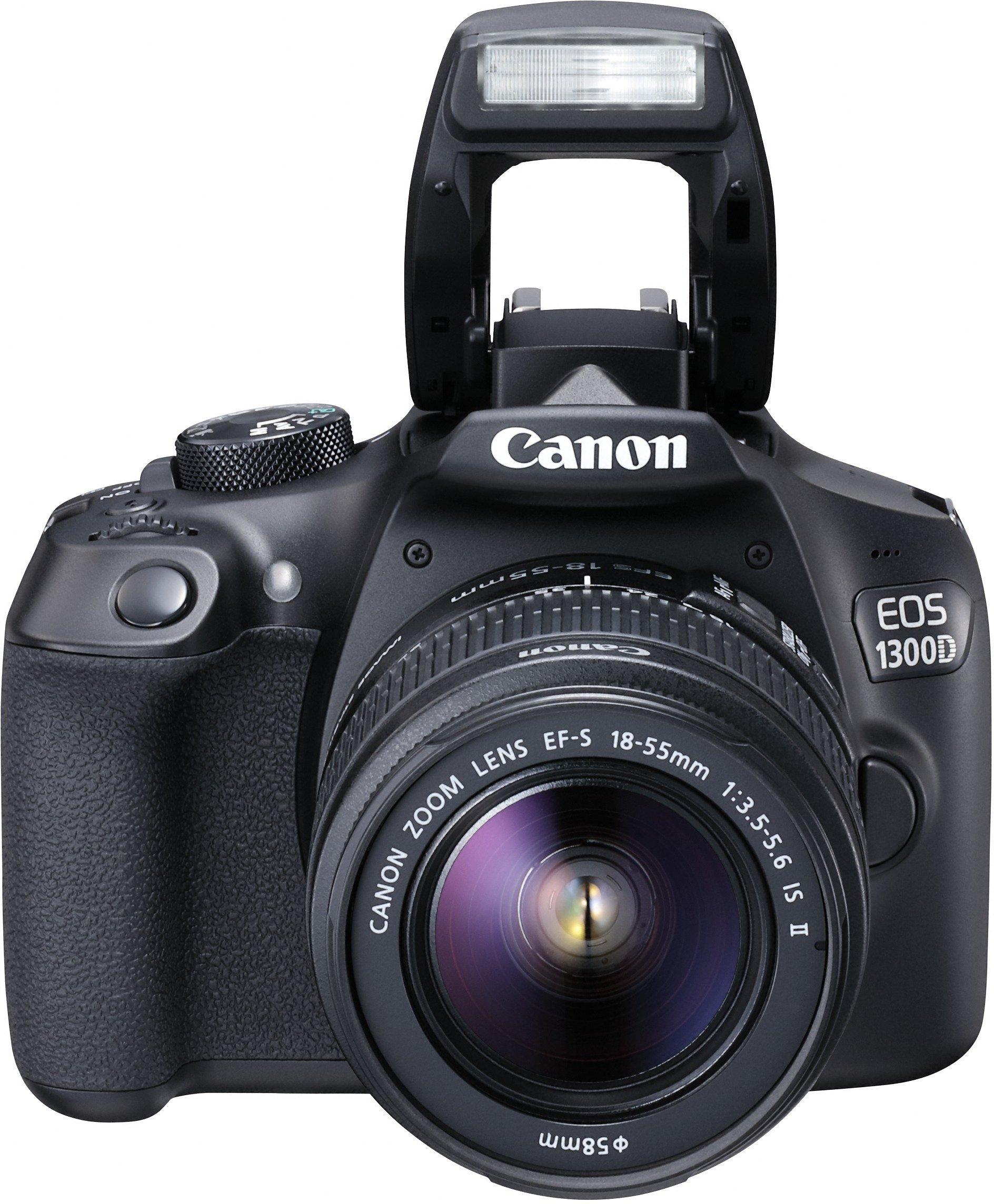 Canon EOS 1300D Kit Fotocamera Reflex Digitale da 18 Megapixel con Obiettivo EF-S IS II 18-55 mm, Wi-Fi, NFC, Versione EU, Nero/Antracite product image