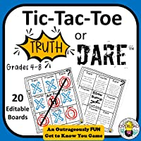 Tic-Tac-Toe Truth or Dare: The Ultimate Get to Know you Game, Great for Back to School & Class Bonding