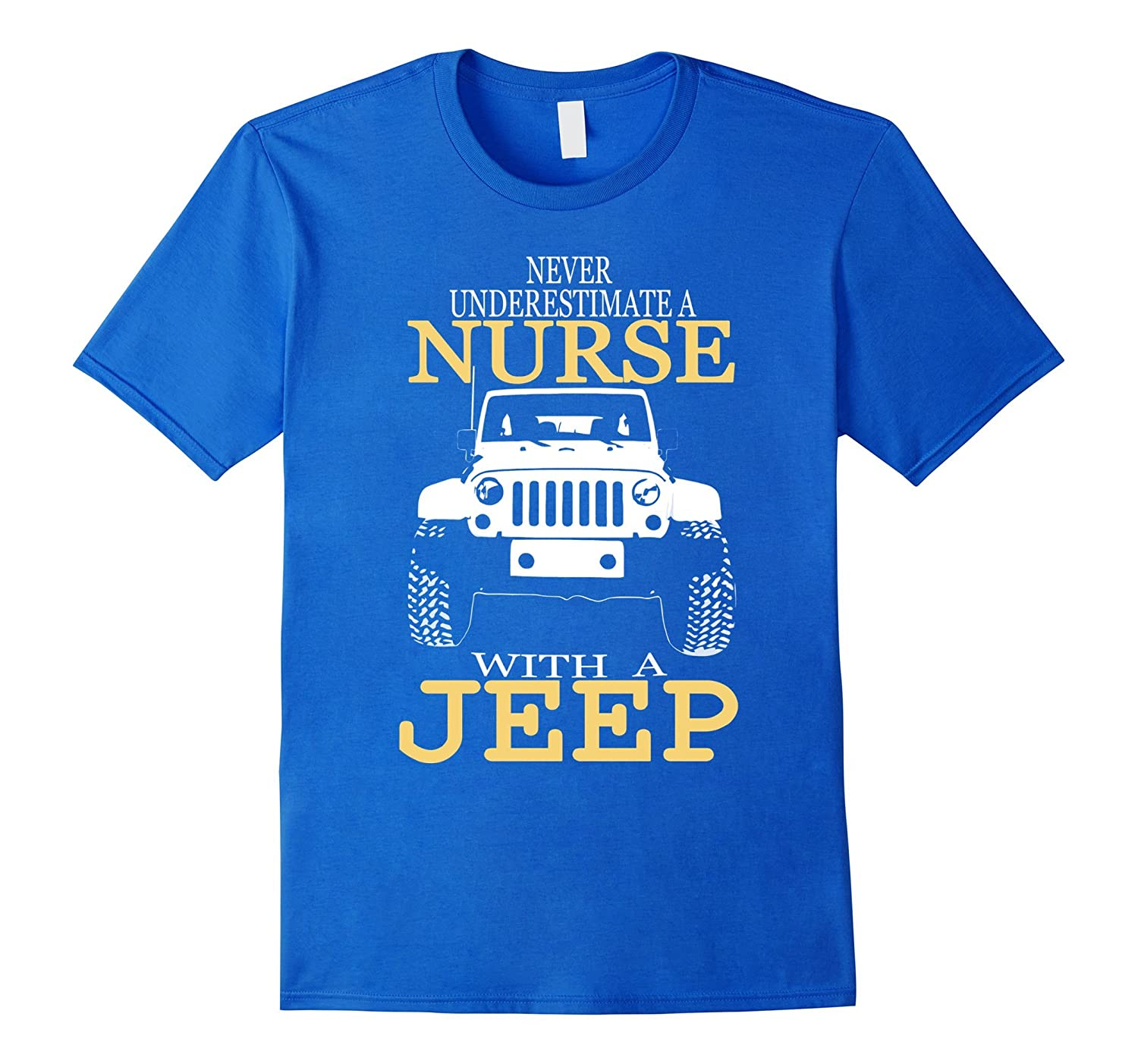 Nurse Shirts For Women - Nurse With A Jeep Graphic Tee.-CL