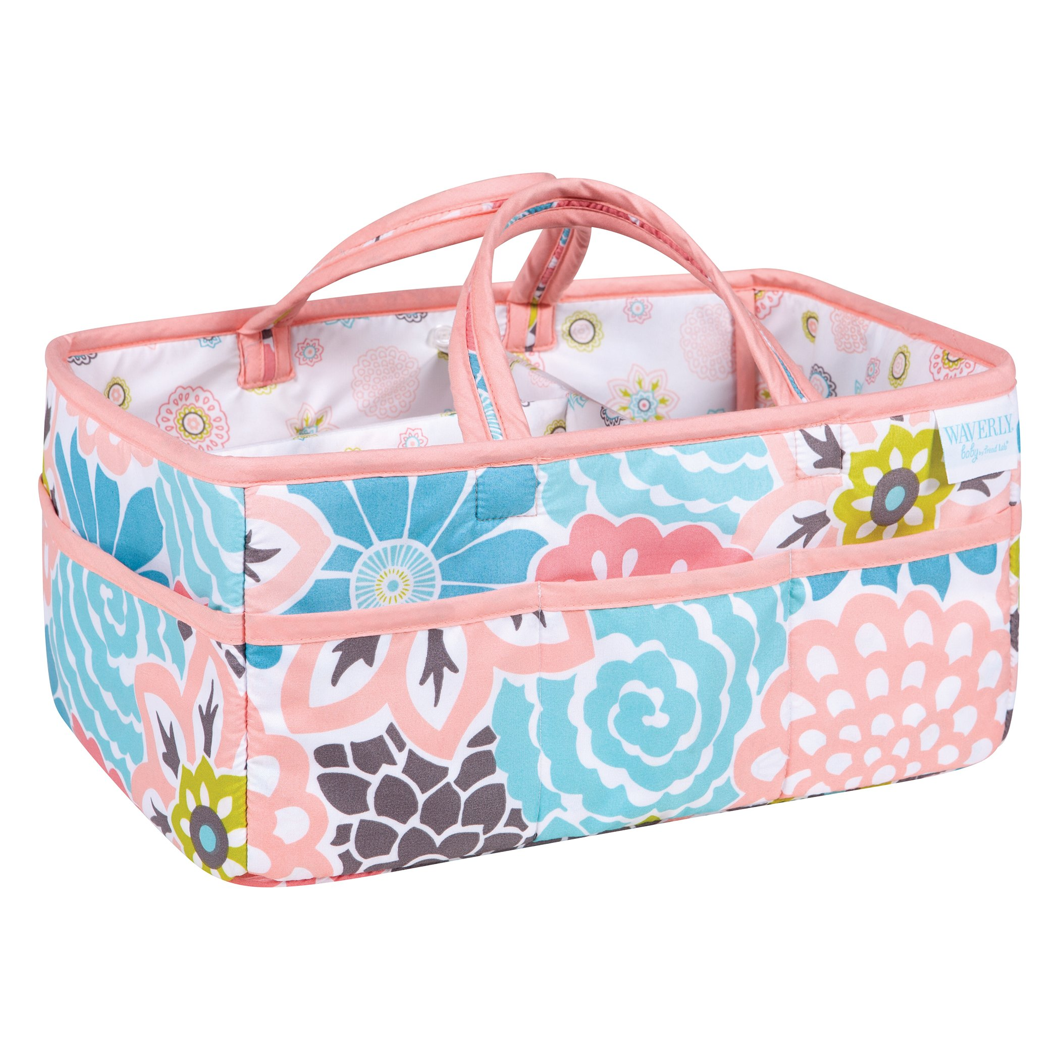Waverly Blooms by Trend Lab Diaper Caddy, Storage, Bin, Pink