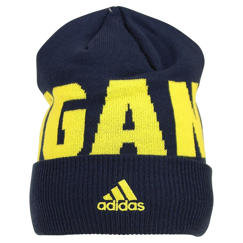 14a8731c159 Amazon.com   Adidas Michigan Wolverines Classic Cuffed Winter Knit Hat (Michigan  Wolverines)   Sports   Outdoors