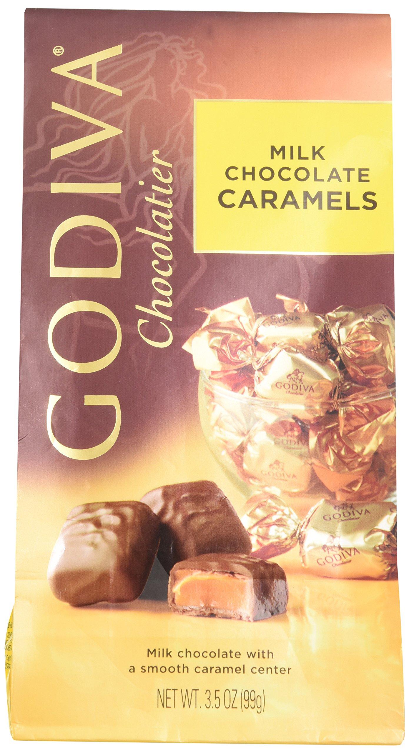 Godiva Wrapped Milk Chocolate Caramels, 3.5 Ounce by Godiva