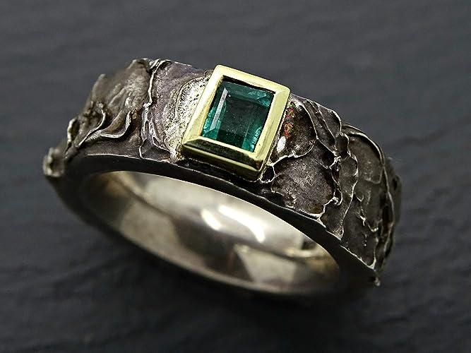 Emerald Wedding Band.Amazon Com Mens Emerald Ring Gold Silver Celtic Wedding Ring For