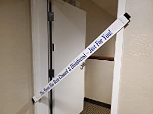 This Room Has Been Cleaned & Disinfected - Just for You! Door Sign with Magnetic Ends (6 Pack)