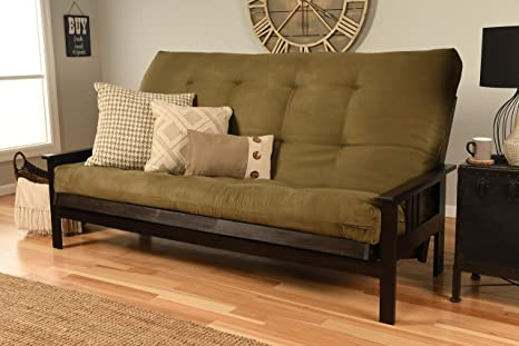 Fabulous Jerry Sales Queen Or Full Size Montreal Espresso Futon Frame W 8 Inch Innerspring Mattress Sofa Bed Modern Futons Olive Mattress And Frame Only Evergreenethics Interior Chair Design Evergreenethicsorg
