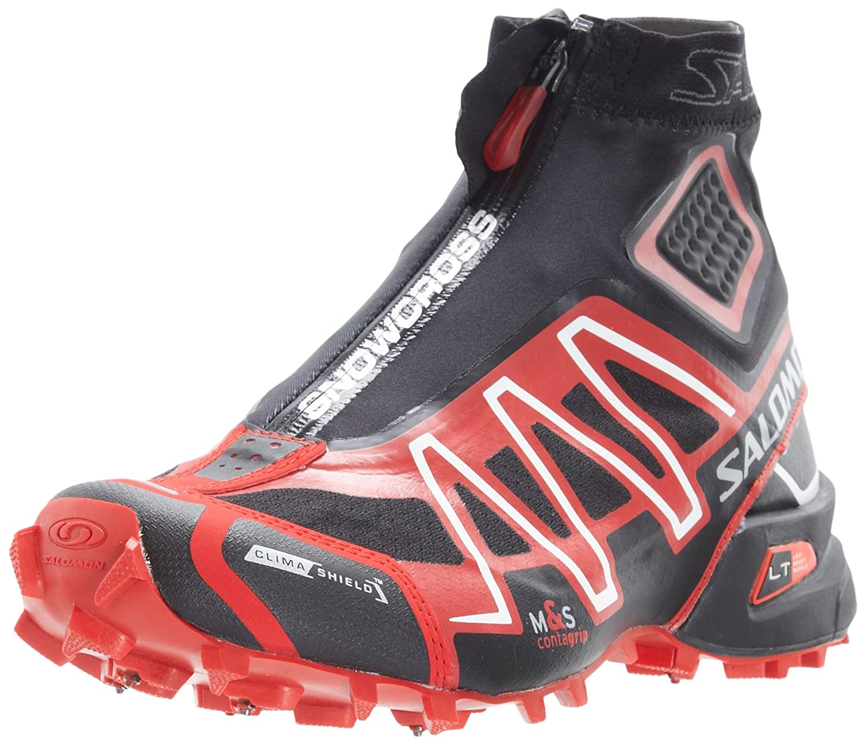 Salomon Shoes Speed Cross S Lab Men Running Shoes Triple Nero Rosso Outdoor Hiking Jogging Sneakers Scarpe da ginnastica SpeedCross s lab sports
