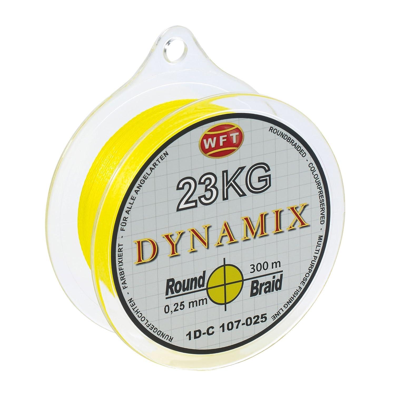 WFT Round Dynamix 300m Angelschnur geflochten rund Gelb #1D-C 106-008 0.08mm