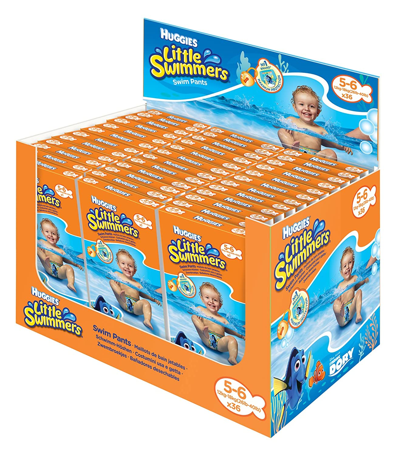 Huggies Little Swimmers Disposable Swim Nappies – Size 5 – 6 Individually Packaged ~ Crafts ~ Scrapbooks ~ Decoration 29174_Dispay