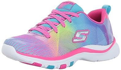 Skechers Kids Girls' Trainer Lite-Color Dance Sneaker,Multi, 10.5 M US