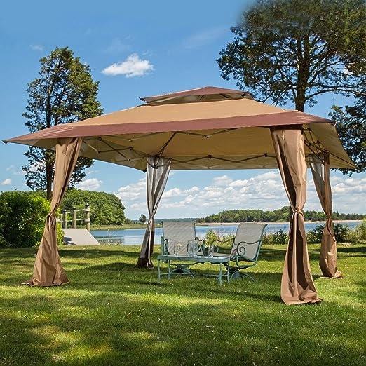 Z-Shade 13 x 13 Pop-Up Gazebo del pabellón. Grande para Proporcionar Sombra Adicional para su jardín, Patio o Evento al Aire Libre.: Amazon.es: Hogar