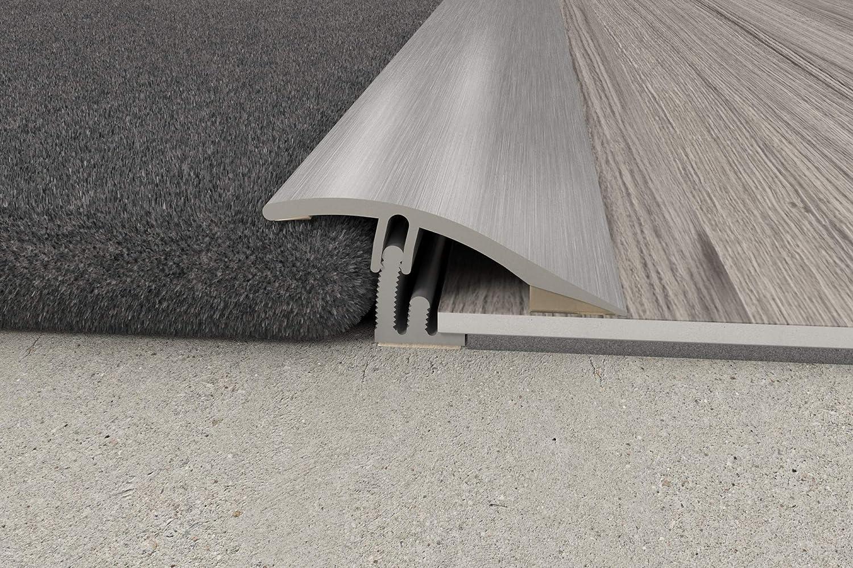 Carpet To Lvt Vinyl Tile Wood Laminate Flooring Transition Door Strip Bar Joins A Gap Angle Vinyl Door Flooring Strip By Royale Amazon Co Uk Diy Tools