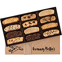 Granny Bella's Gourmet Fathers Day Homemade 12 Biscotti Gift Baskets | Prime Italian Cookies | Corporate Gifting Delivered Tomorrow | Holiday Sympathy Basket | Birthday Gifts Delivery for Men & Women