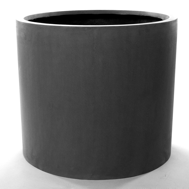 pflanzk bel blumenk bel blumentopf bertopf fiberglas zylindrisch d60xh50cm grau jetzt kaufen. Black Bedroom Furniture Sets. Home Design Ideas