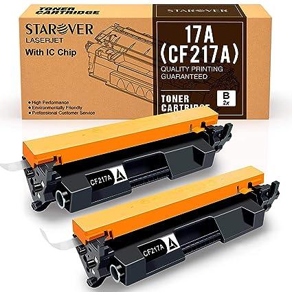 Con Chip] 2-paquete Para HP 17A CF217A Cartucho De Tóner Negro ...