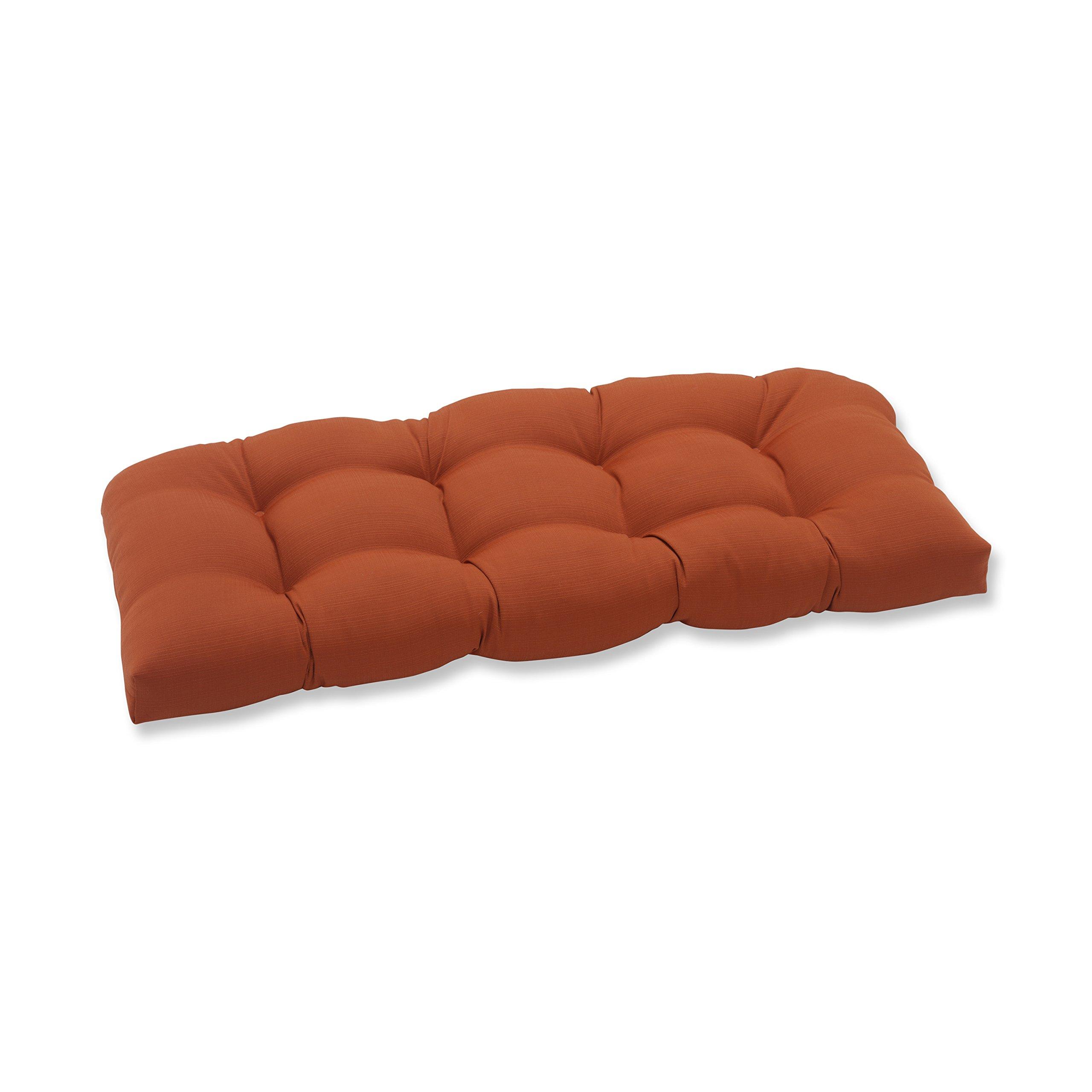 Pillow Perfect Outdoor Cinnabar Wicker Loveseat