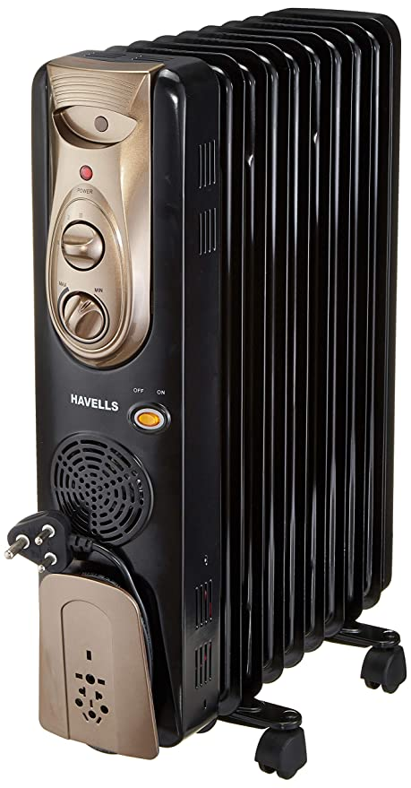 Buy Havells OFR - 9Fin 2400-Watt PTC Fan Heater (Black) Online at Low Prices in India - Amazon.in