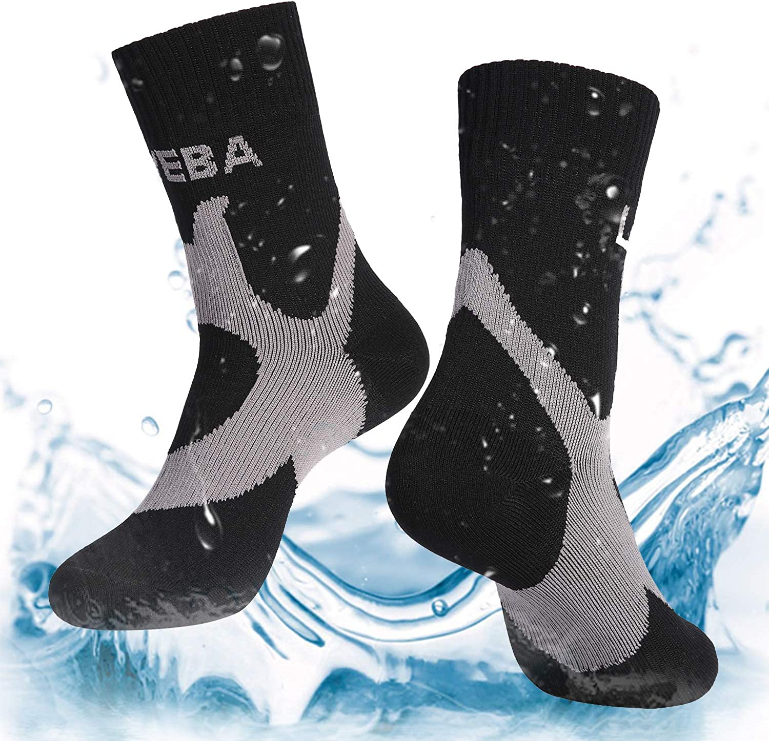 SGS Certified Trekking Cycling Hiking Skiing Unisex Mid-Calf Socks HyperShellz Waterproof Socks