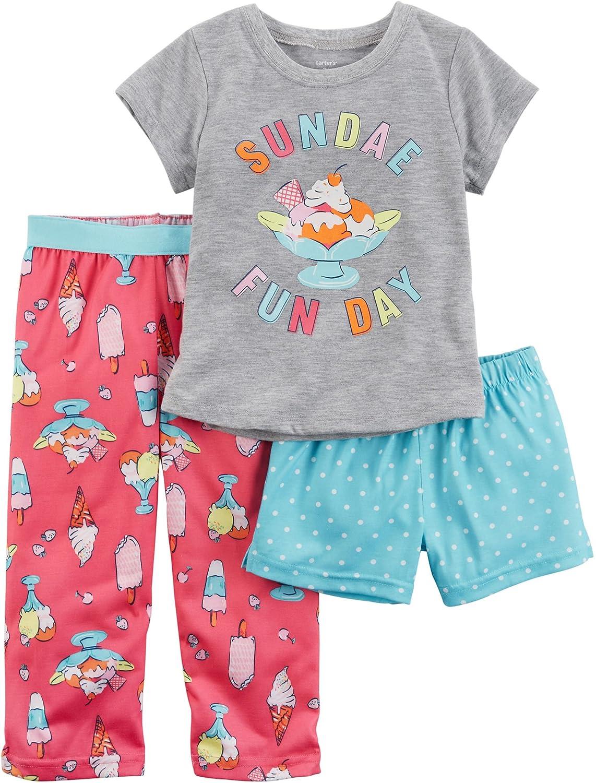 Carters Little Girls 3-Piece Jersey PJS 4 Kids