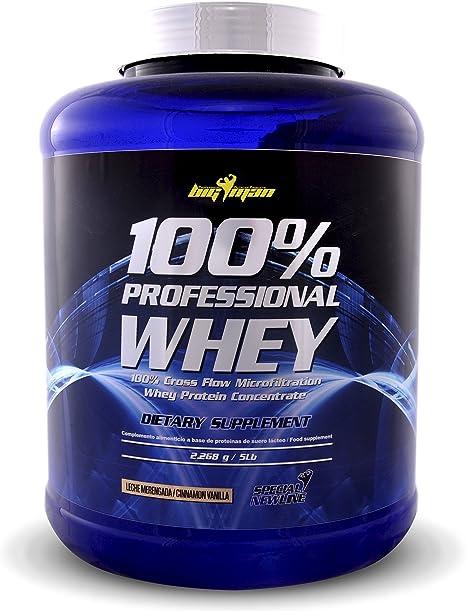 Big Man Nutrition 100% Professional Whey Concentrado de Suero de Leche, Fresa - 2268 gr