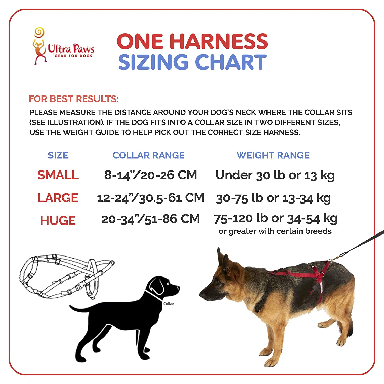 Amazon.com : Ultra Paws® One Harness - Small(dogs 0-30 lbs) : Pet