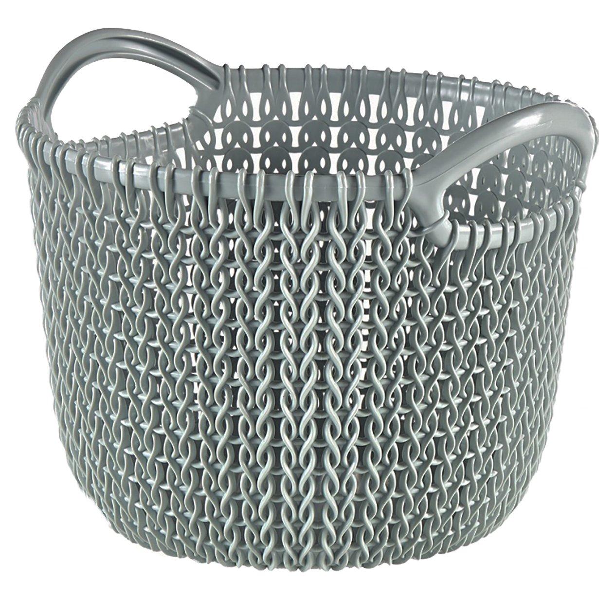 Curver Cesta Knit Redonda XS ~3L, Blanco Oasis, 18.2x17.6x13.7 cm, 230003