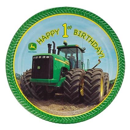 John Deere 1st Birthday Dinner Plates (8)  sc 1 st  Amazon.com & Amazon.com: John Deere 1st Birthday Dinner Plates (8): Toys \u0026 Games