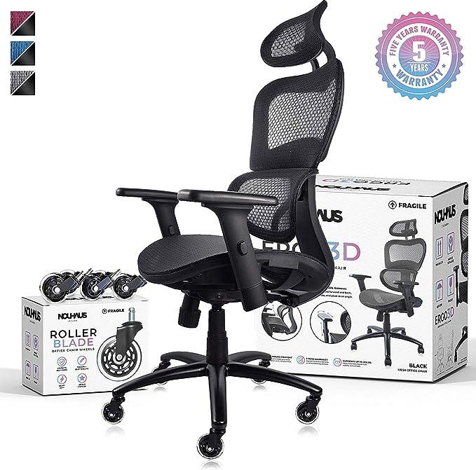 NOUHAUS Ergo3D Ergonomic Office Chair - Remarkable Comfort