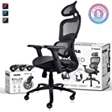 NOUHAUS Ergo3D Ergonomic Office Chair - Rolling Desk Chair with 3D Adjustable Armrest, 3D Lumbar Support and Extra Blade Whee