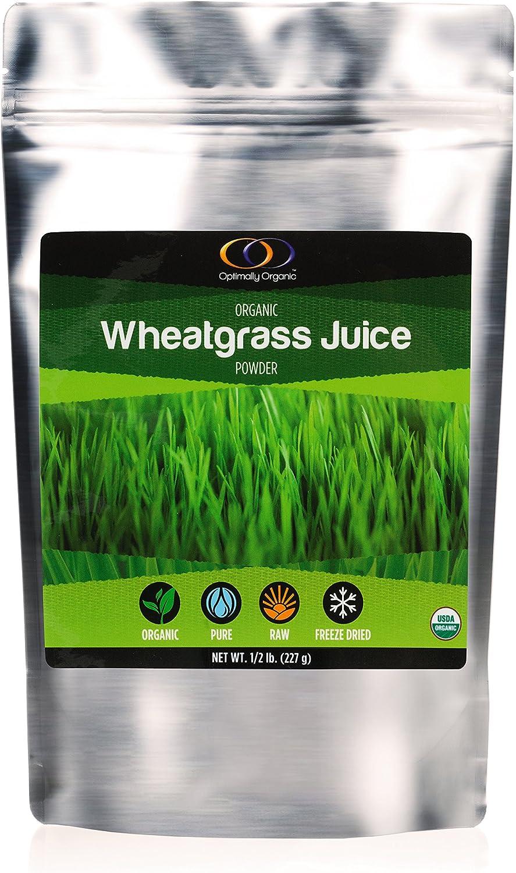 Organic Wheatgrass Juice Powder 1/2 Lb - All-Organic, All-Raw, Freeze- Dried Wheatgrass Powder