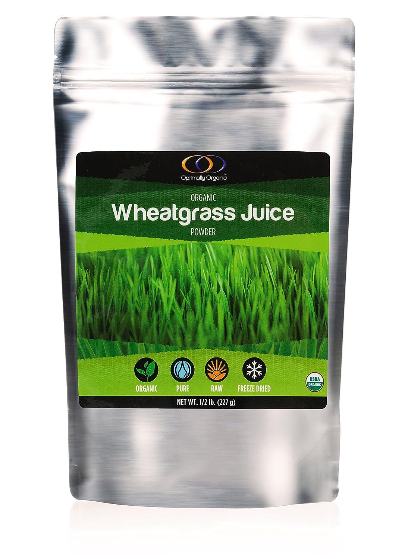Amazon.com: Jugo de pasto de trigo orgánico en polvo (1/2 lb ...