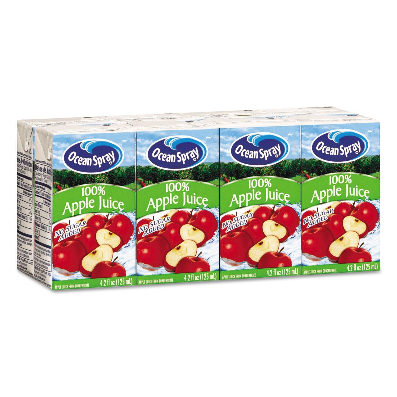 Ocean Spray 23857 Aseptic Juice Boxes, 100% Apple, 4.2oz, 40/Carton