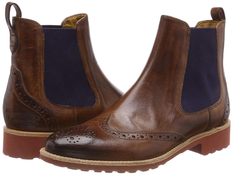 MELVIN & HAMILTON MH HAND HAND HAND MADE Schuhe OF CLASS Damen Amelie 5 Chelsea Stiefel Braun (Classic/ Wood/ Ela Purple/ Rook D ROT Classic/ Wood/ Ela Purple/ Rook D ROT) cc2485