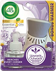 Air Wick plug in Scented Oil, Starter Kit, Lavender & Chamomile 1ct, Essential Oils, Air Freshener