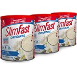 SlimFast Original French Vanilla Meal Replacement Shake Mix – Weight Loss Powder – 12.83 Oz. - 14 Servings (Pack Of 3…