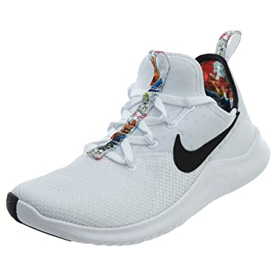 Nike WMNS Free Tr 8 Print Womens Ah0709-100 Size 6 White Black a4bf0ec5f