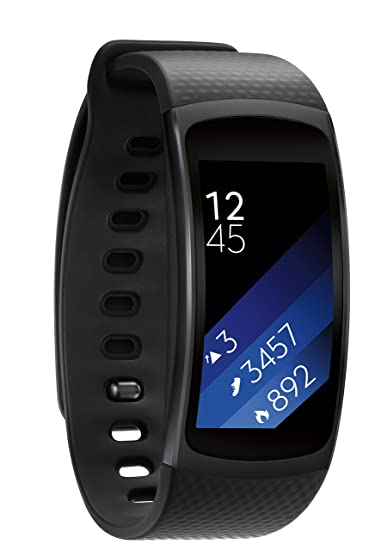 58204da04 Amazon.com: Samsung Gear Fit2 Smartwatch Large, Black: Cell Phones &  Accessories