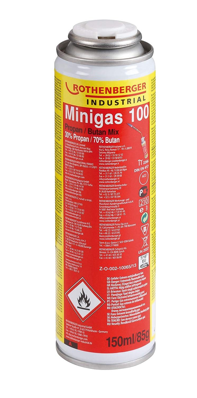 Rothenberger Industrial - Minigas 100 - Brenngas-Kartusche - Butan / Propan Mix - 150 ml - 35504