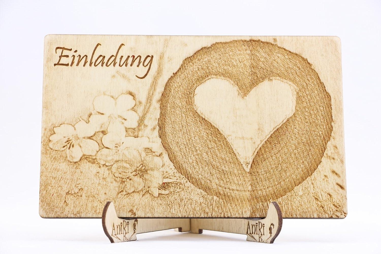 Holz Einladungskarten Zur Hochzeit Lasergeschnittene