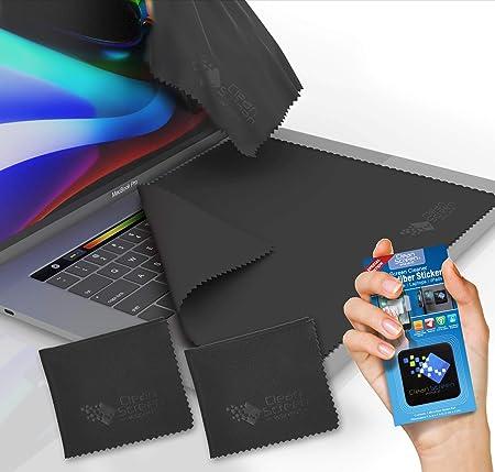 CLEAN SCREEN WIZARD Microfibra Protectores del Teclado de Pantalla Cubre - Productos de Limpieza Paquete de 4 (3 x-Grande) Teclado y Cubre Etiqueta de ...