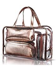 0b157c8654 NiceEbag 5 en 1 Sac Cosmétique en PVC Portable Fourre-tout Trousse de Maquillage  Transparent