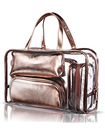 b11a0226591a NiceEbag 5 in 1 Cosmetic Bag   Case Portable Carry on Travel Toiletry Bag  Clear PVC