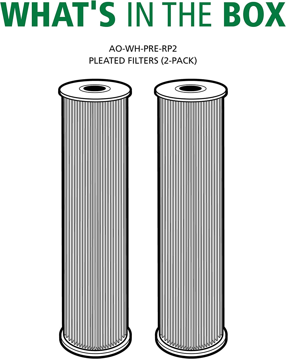 AO Smith AO-WH-PRE-RP2 10 x 2.5 Pleated Sediment Filter