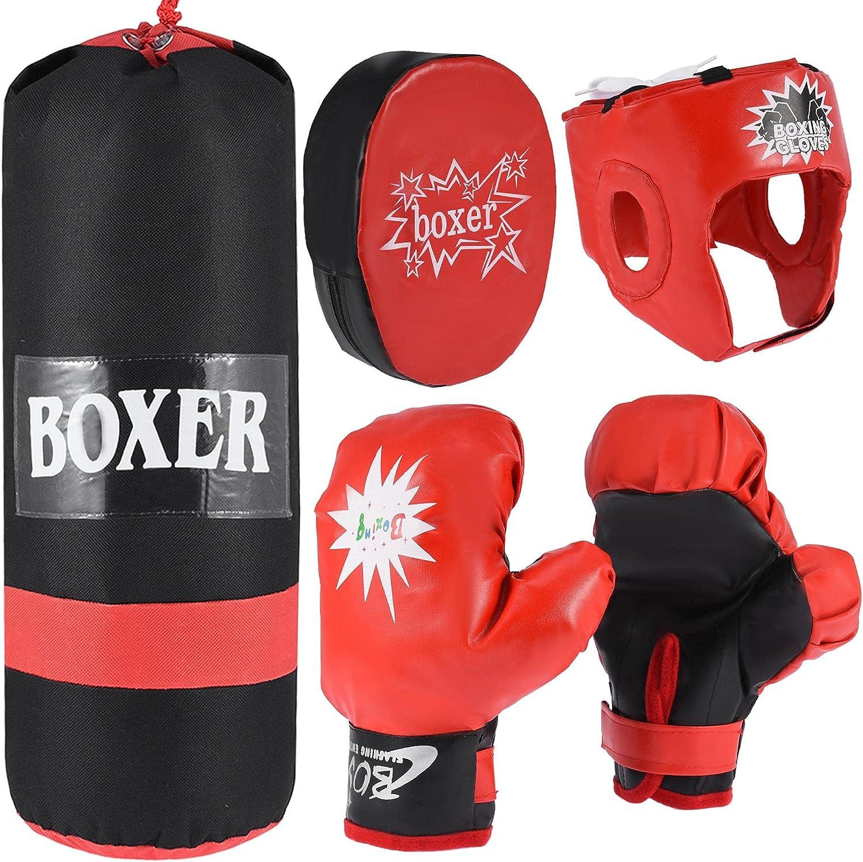Kids Children Boxing Punch Bag Punching Bags Gloves Set Fitness Gift Pack