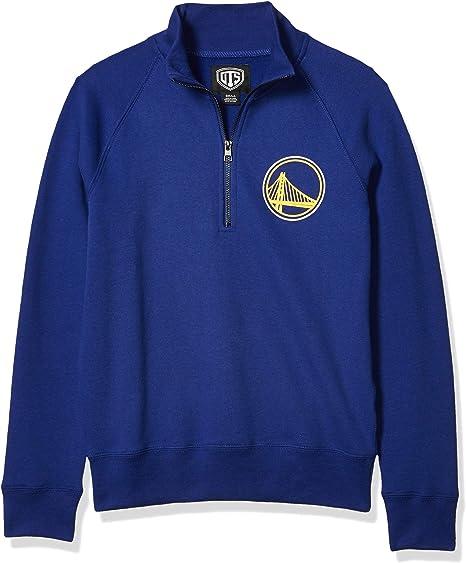 NBA Womens OTS Fleece 1//4-Zip Foil Pullover