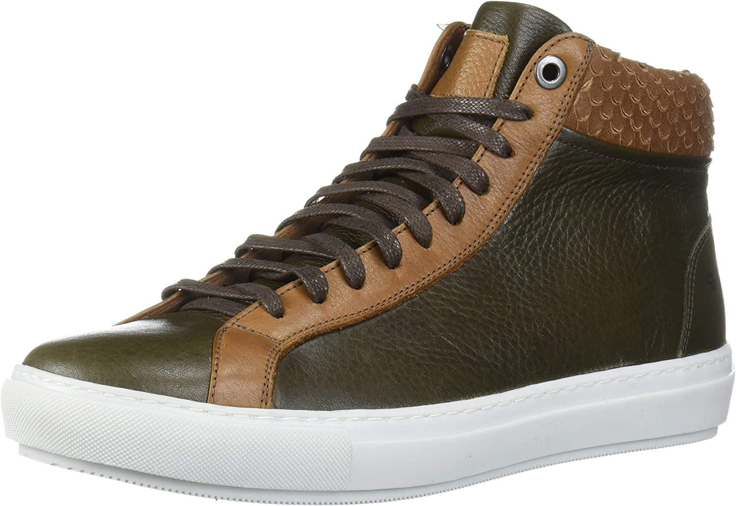 Brothers United Men's Limited time for free shipping Leather Luxury Lace Up Fashion Challenge the lowest price Sneaker