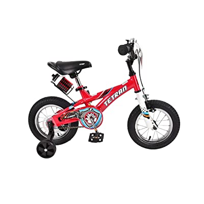 Tetran Knight Boy's Freestyle BMX Bike, 12/16 Inch, Red/Black/Blue : Sports & Outdoors