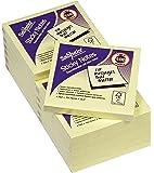 Snopake 12128 - Notas adhesivas (12 unidades x 100 hojas, 76 x 76 mm), color amarillo