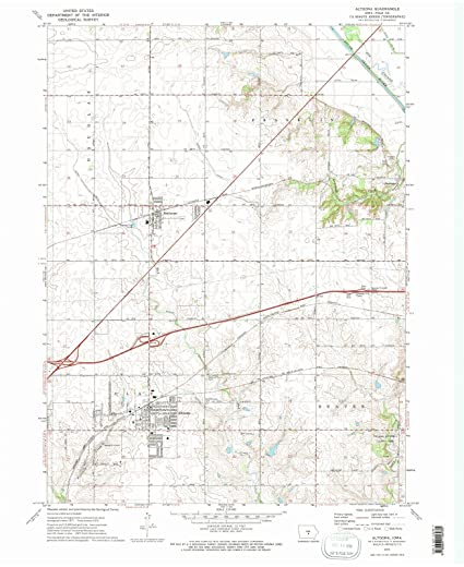 Amazon Com Iowa Maps 1972 Altoona Ia Usgs Historical Topographic