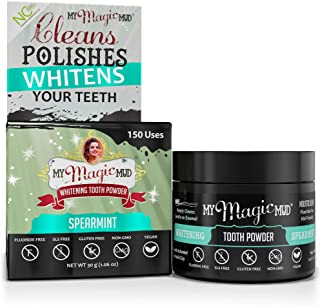 product image for My Magic Mud - Whitening Tooth Powder, Polishing, Brightening, Charcoal, Spearmint, 1.06 oz. (150 uses)