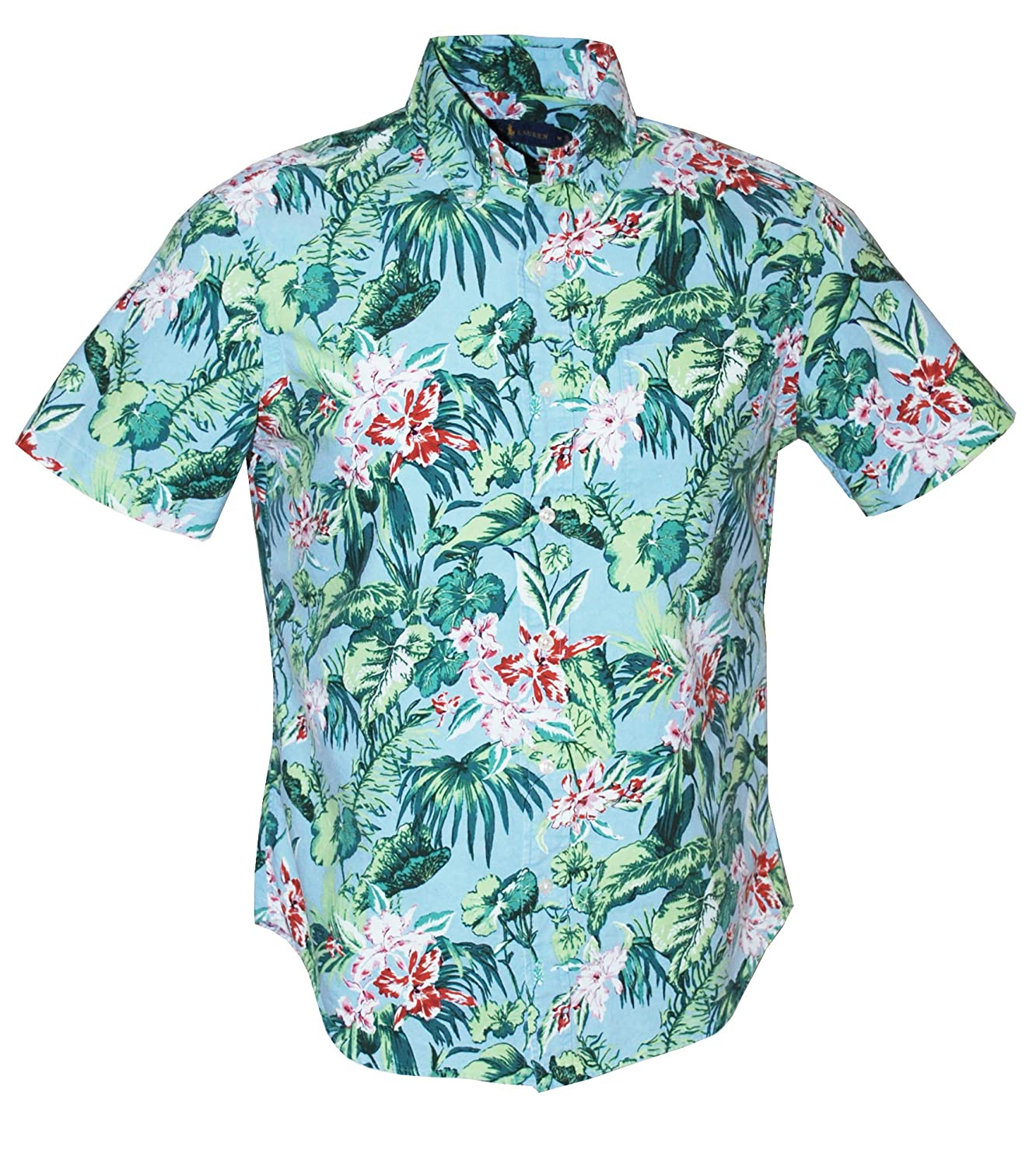 a341ae64 Polo Ralph Lauren Men's Classic Fit Hawaiian Print Shirt, Palm Floral at  Amazon Men's Clothing store: